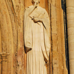 Image on wall of Norwich Cathedral.