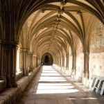 Portico at Norwich Cathedral England.