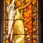 Stained glass window in the Chapel of Trinity Episcopal Church Wheaton Illinois.